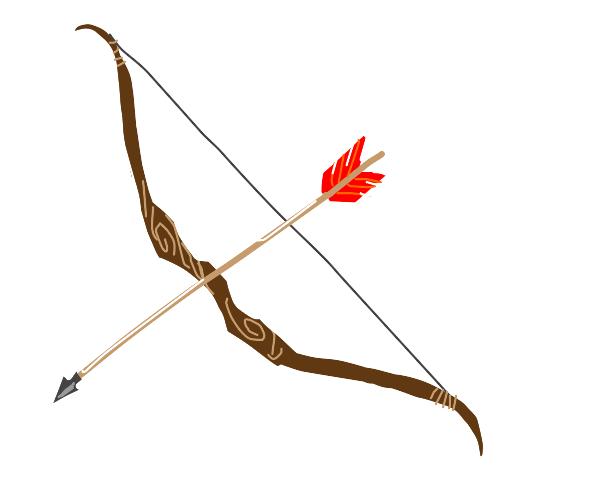 Bow and arrow.