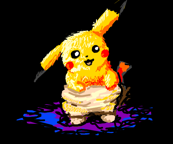 Pikachu in Scraggy's Pants