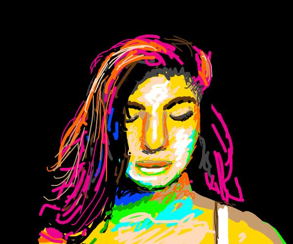 A rainbow girl