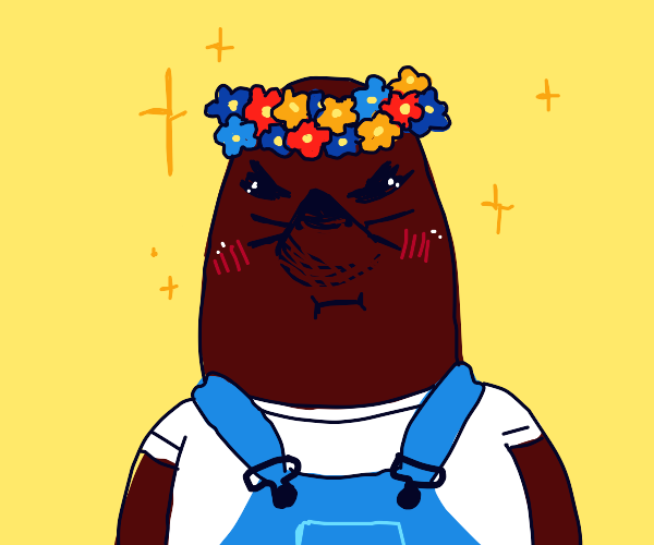 Animal Crossing characters with flower crowns