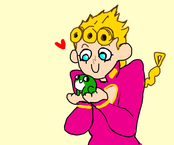 Giorno likes frogs
