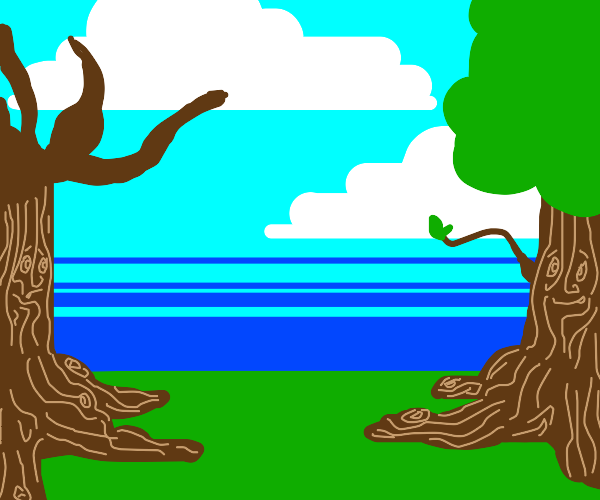 Happy tree and sad tree