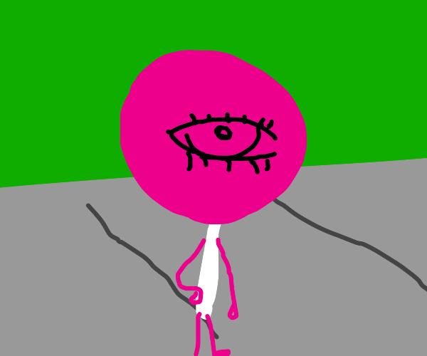 lollipop standing on side walk