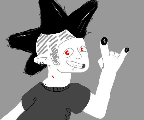 Wow, that punk vampire is super stylin'.