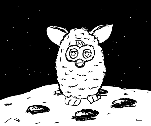Furby on the moon