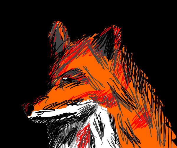 Fox covered in blood