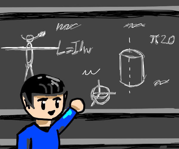 Chibi Spock gives physics lecture