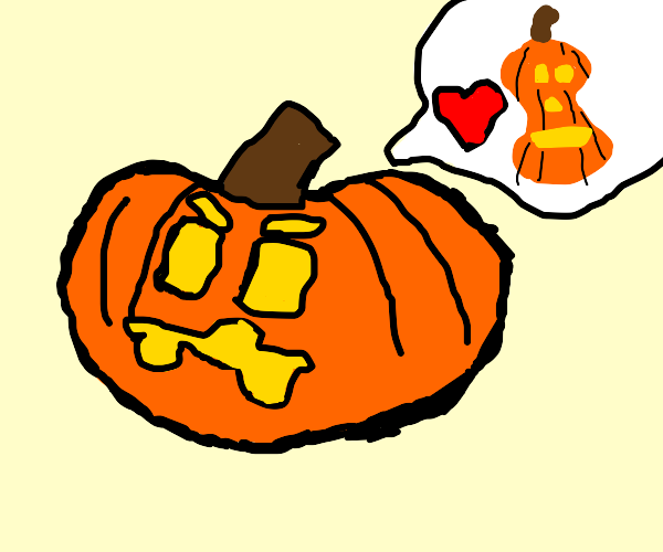 Angry jack o lantern in love