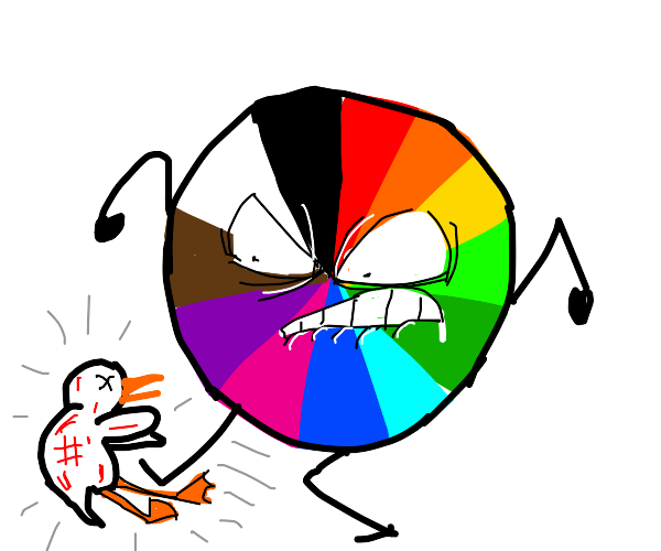 The color wheel mostly doesn't like the duck
