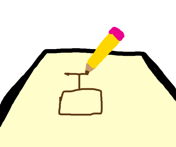 Drawing a brown piston