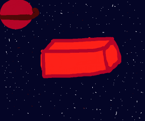 brick in space