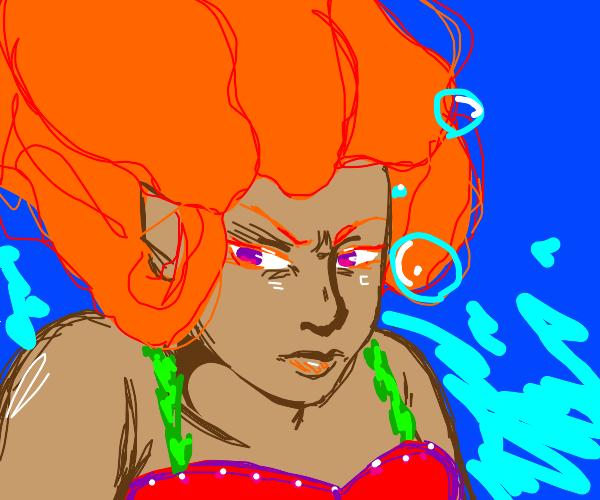 Angry mermaid
