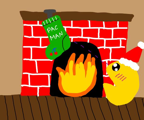 Pacman likes x-mas stocking