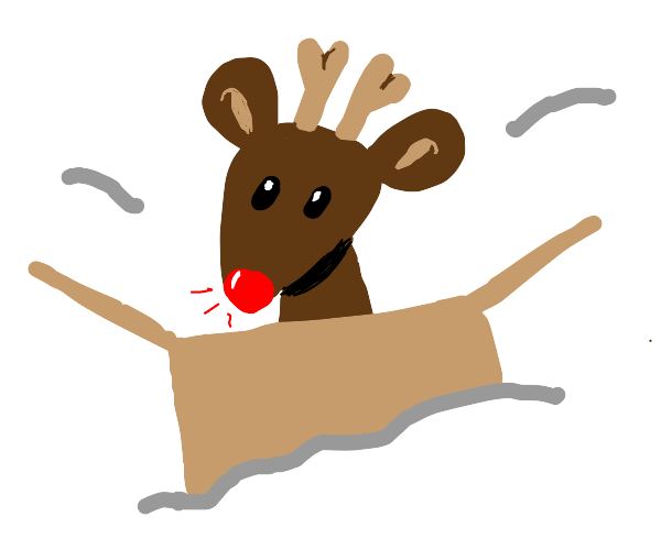 rudolph is in a box