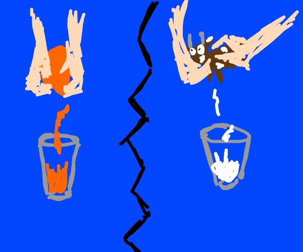 Orange juice vs milk (moo juice)