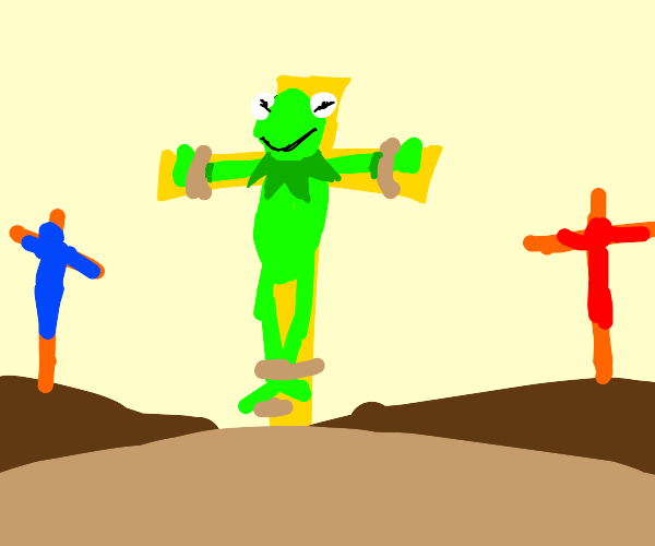 Kermit crucified
