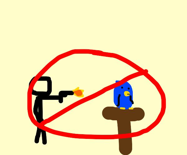 Please stop harming the birds