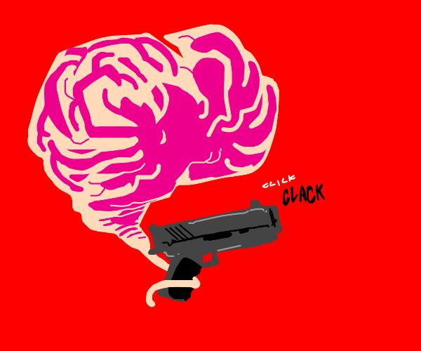 A brain with a gun.