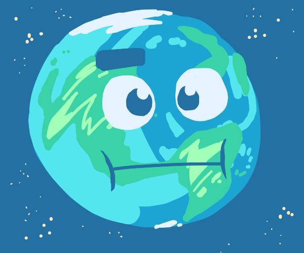 The earth has a face