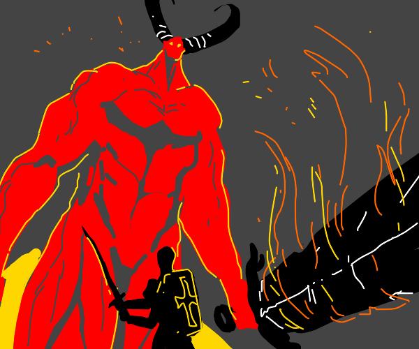Very big (unclothed) demon