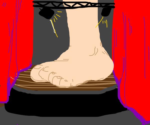 Large Foot bursts through Cinema