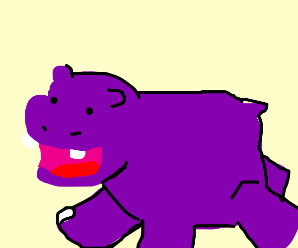 Oh wow, it's a hippo!