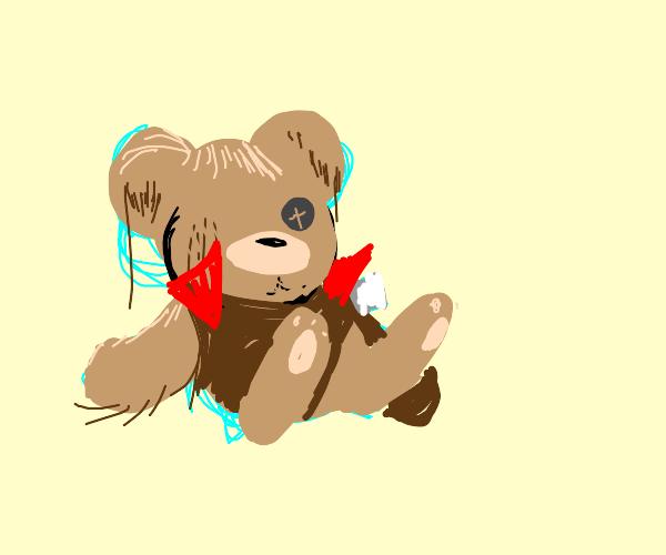My old threadbare teddy bear