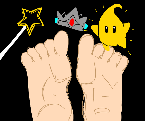 Princess Rosalina's feet