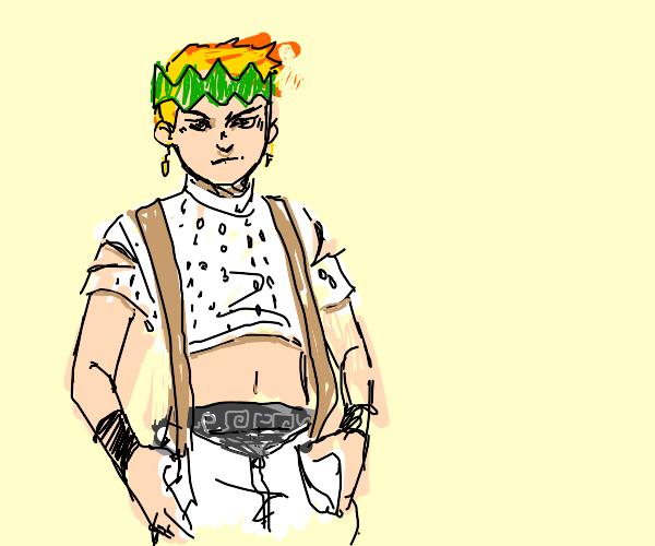 Reigen in Rohan Kishibe's Clothes