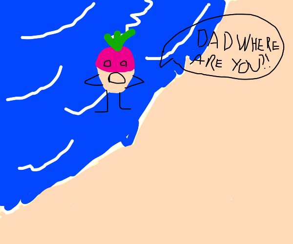 Giant turnip comes out of sea to find dad