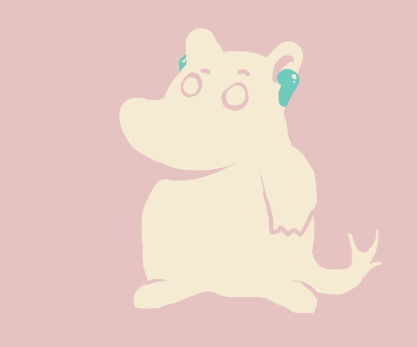its that moomin dude with airpods