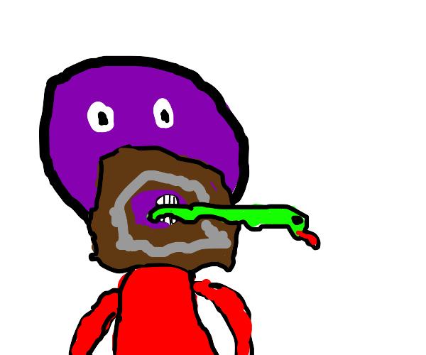 Purple Moses bites serpent