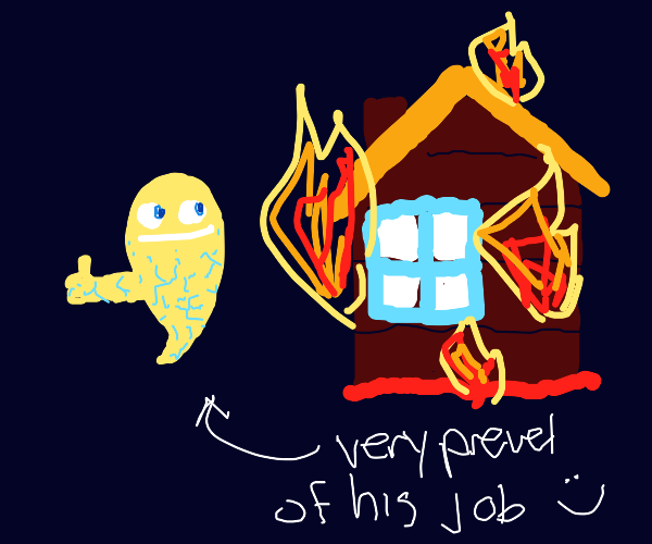 Lightning ghost burns down cabin