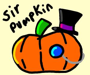 Pumpkin wearing a Hat