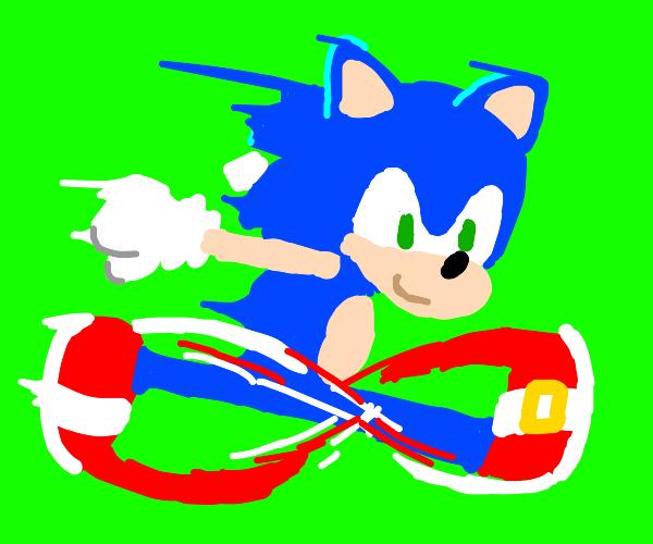 Sonic's gotta go fast