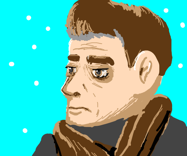 Guy in a brown scarf.