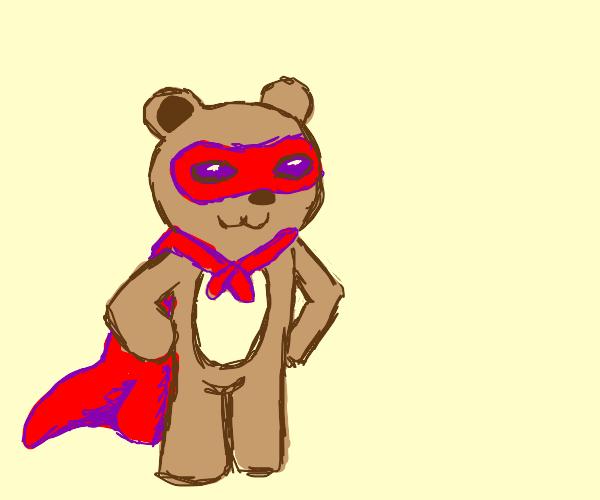 A superhero bear