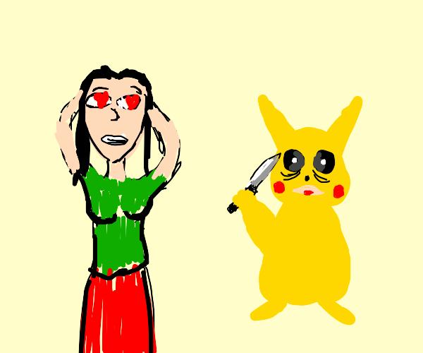 Girl loves pikachu
