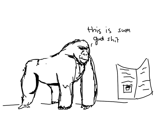 gorilla agrees to subscribe to newsletter