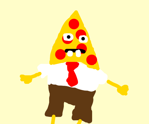 spongebob pizza head