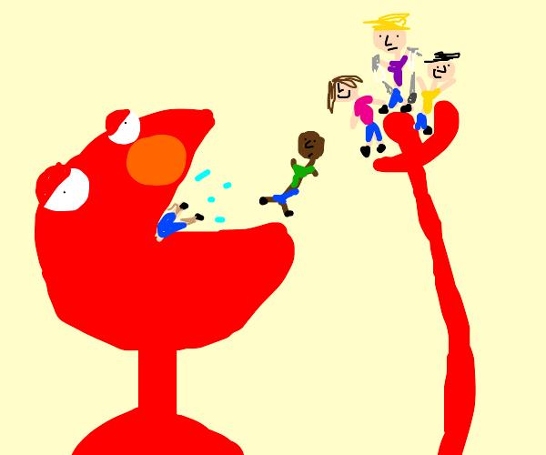 Elmo swallows ALL the kids