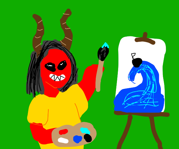 Demon paints a really big wave