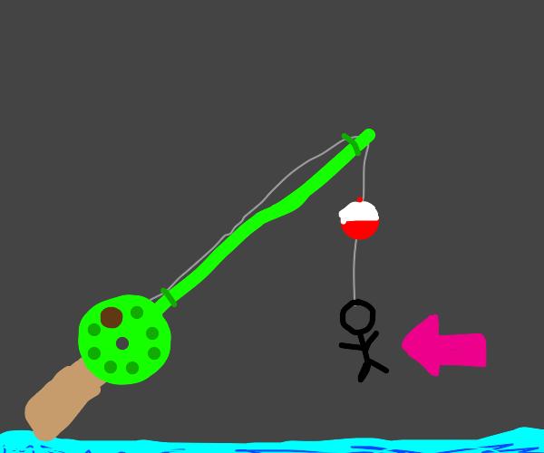 Man shape fishing lure