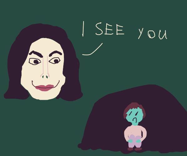 Michael Jackson spots someone