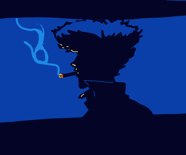 Silhouette of Spike from Cowboy Bebop