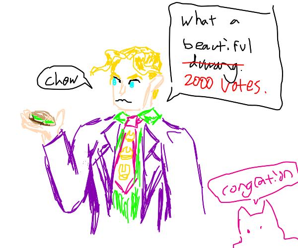 Kira congratulates you on 2000 votes