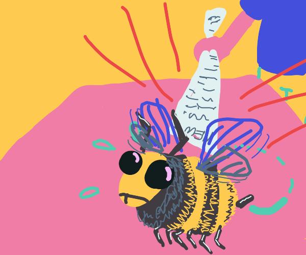 Bee makes a narrow escape