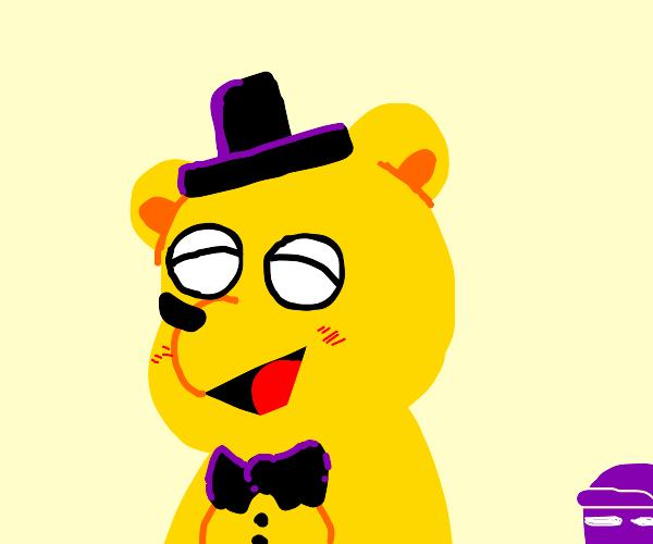 golden freddy is happy
