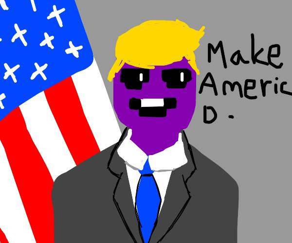 purple guy is president