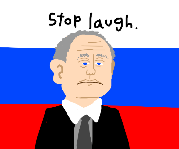 putin with russian flag background